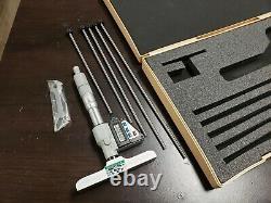 Mitutoyo Set Digital Depth Micrometer with 6 Rods Grey
