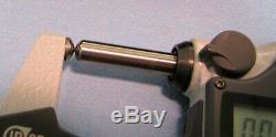 Mitutoyo Spherical 0-1 Face Micrometer Coolant Proof IP-65 Model # 395-371