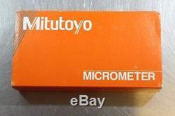 Mitutoyo Spherical Face Tube Wall Digit Digital Counter Micrometer 0-25mm 0.01mm