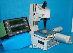 Mitutoyo Toolmakers Microscope + Mitutoyo Digital Readout + Micrometer Heads 164