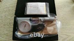 Mitutoyo Waterproof Lever Type External Diameter Micrometer 510-121 0-25mm