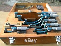 Mitutoyo combumike micrometer set 0-6 with outside digit counter