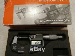Mitutoyo digimatic micrometer. Digital Disc Micrometer IP65Inch/Metric, 0-1