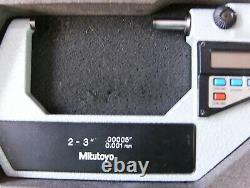 Mitutoyo digimatic micrometer set mdc-4.00005 0.001 mm