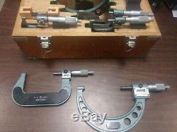 Mitutoyo digital micrometer set
