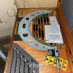 Mitutoyo digital micrometer set 6in-12in