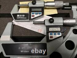 Mitutoyo digital micrometers 0-1, 2-3 & 89
