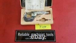 NEW MITUTOYO SPHERICAL MICROMETER DIGIT COUNTER 0-1 tube thickness od (T159)