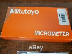 NEW Mitutoyo #193-211 0-1 Digital Micrometer, Carbide. 0001 Lock, Friction End