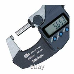 NEW Mitutoyo 293-340 Digital Digimatic Coolant Proof Micrometer 0-1- 0-25.4mm
