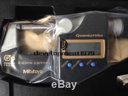 NEW Mitutoyo Digital Micrometer QuantuMike MDE25MX (293-140-30)