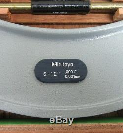 New Item Old Inventory, Mitutoyo 340-712-30 Digimatic 6-12 Wide Range MIC