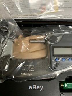 New MITUTOYO 293-345-30 1-2 DIGITAL MICROMETER Digimatic Ip65.00005 Machinist