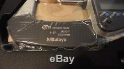 New Mitutoyo 293-336-30, 1-2 Digital Micrometer, Ip65.00005, Mdc-2 Mxf
