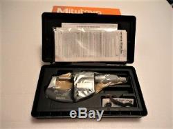 New Mitutoyo 293-340-30, 0-1 Digital Micrometer, Ip65.00005, Ratchet Thimble