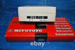 New Mitutoyo 293-715 Digital Micrometer Ratchet 0-1 Carbide Face Sealed Box