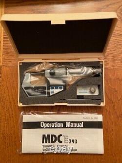 New Vintage Mitutoyo Digimatic Micrometer MDC Series 293