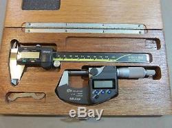 Set Mitutoyo 6 Digital Caliper 500-196 and 293-340-30 Micrometer Absolute