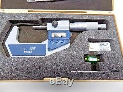 UNUSED MITUTOYO 1-2 DIGITAL MICROMETER WITH CASE 293-722-30 Includes Standard