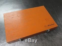 USED Mitutoyo 193-923 Digital Outside Micrometer 3-Piece Set with Case (RD)