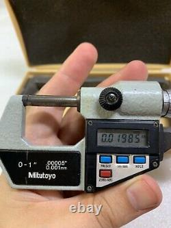 Ultra High Quality MITUTOYO No. 293-725 Outside Digital Micrometer 0-1