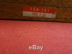Vintage Mitutoyo 104-151 Outside Micrometre with 4 Interchangeable Anvils 8-12