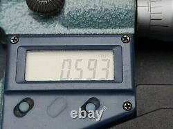 Vintage Mitutoyo 293-766-30 Digital Micrometer Metric & Imperial Works Fine